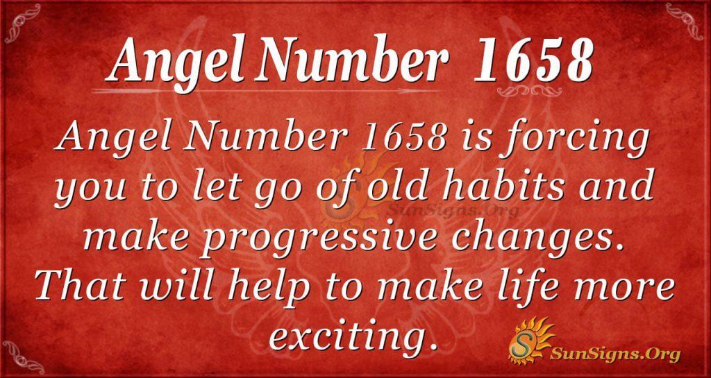 Angel Number 1658