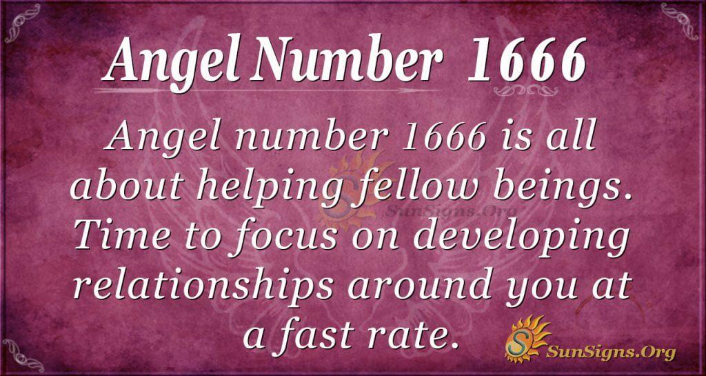 Angel number 1666