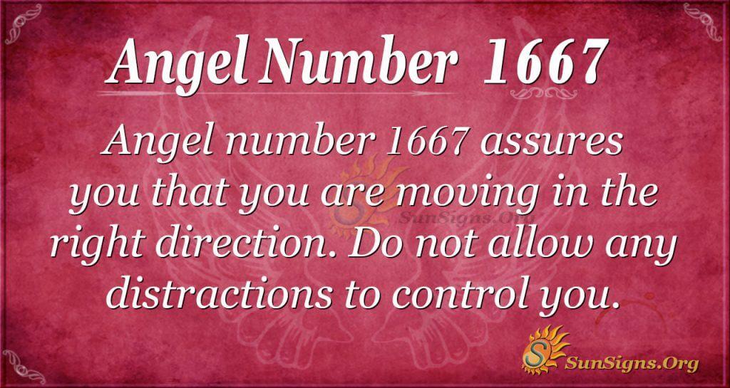 Angel Number 1667