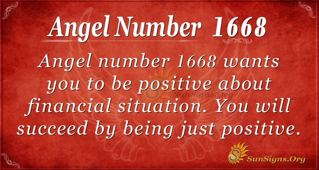 Angel Number 1668
