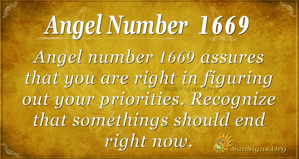 Angel Number 1669