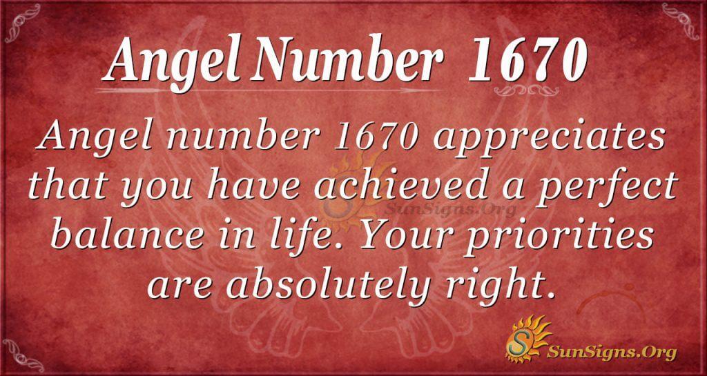 Angel Number 1670