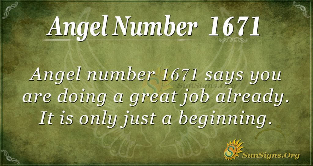 Angel Number 1671
