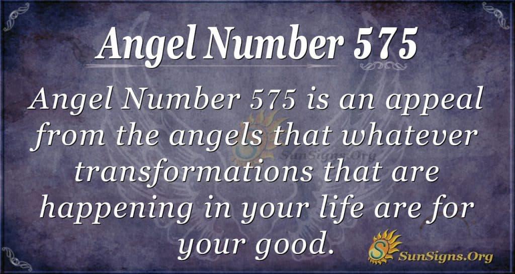 angel number 575