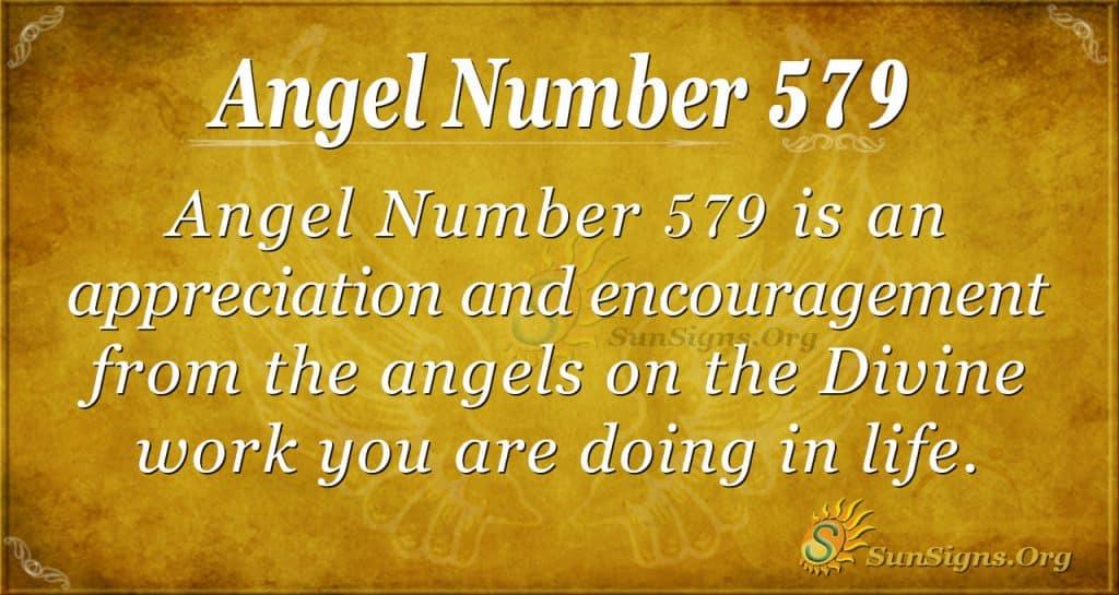 angel number 579