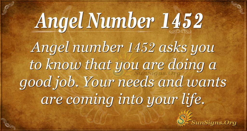 Angel Number 1452