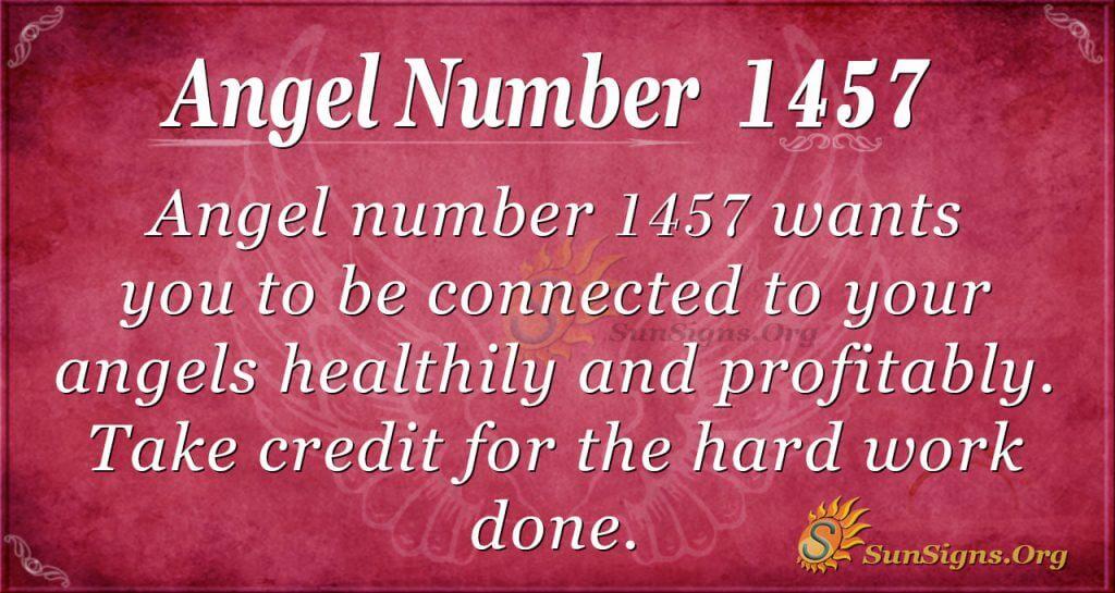 Angel Number 1457