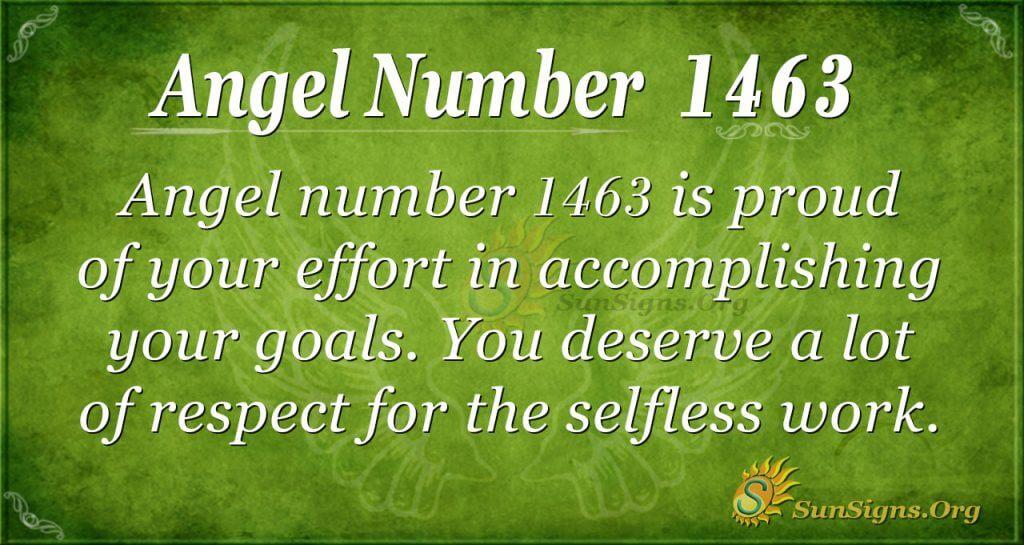 Angel Number 1463