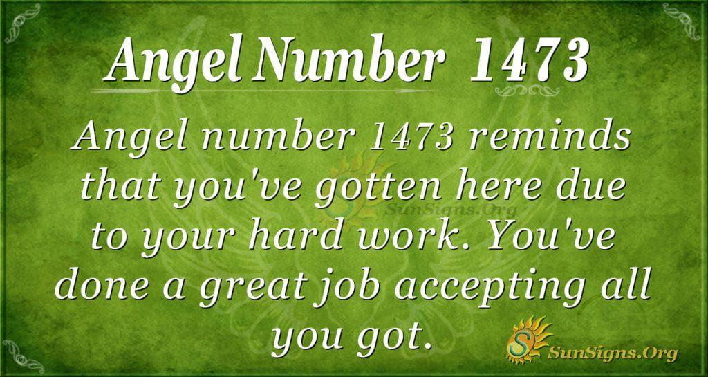 Angel Number 1473