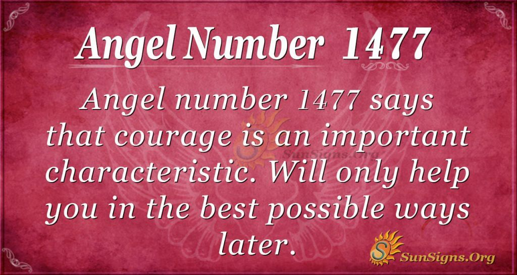 Angel Number 1477