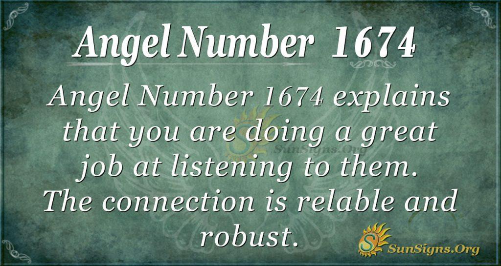 Angel Number 1674