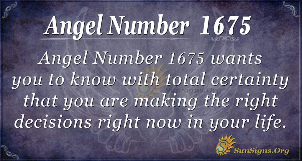 Angel Number 1675