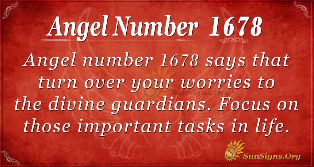 Angel Number 1678