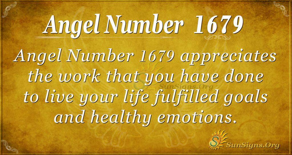 Angel Number 1679