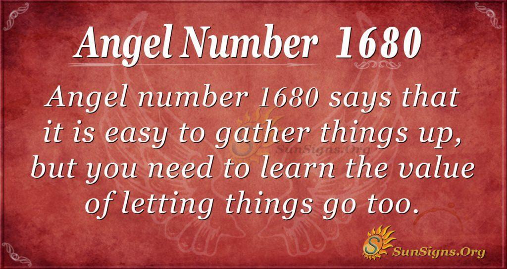 Angel Number 1680