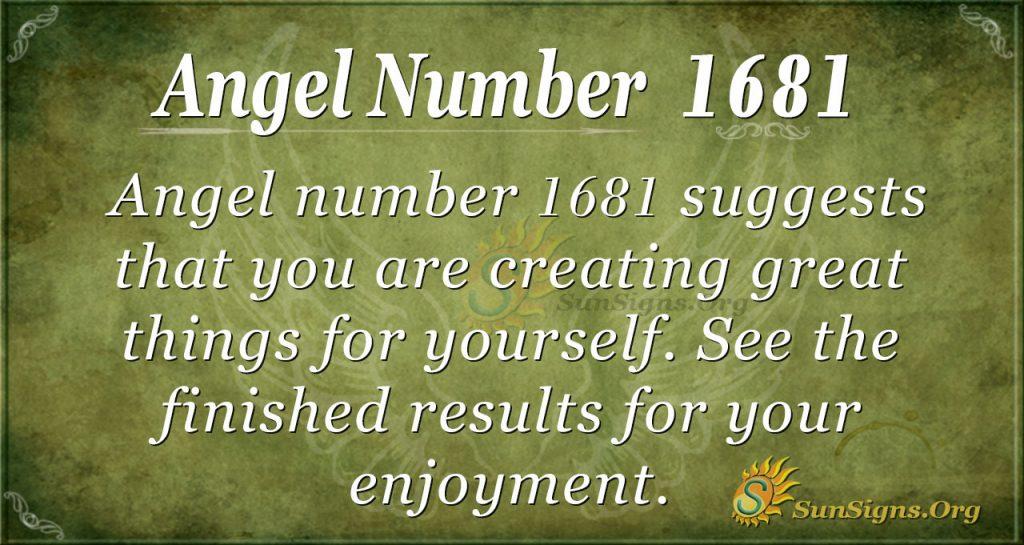 Angel Number 1681