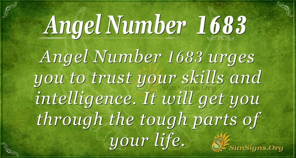 Angel Number 1683