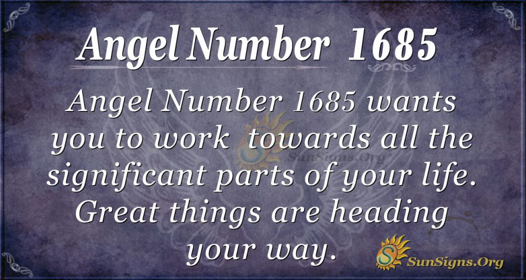 Angel Number 1685