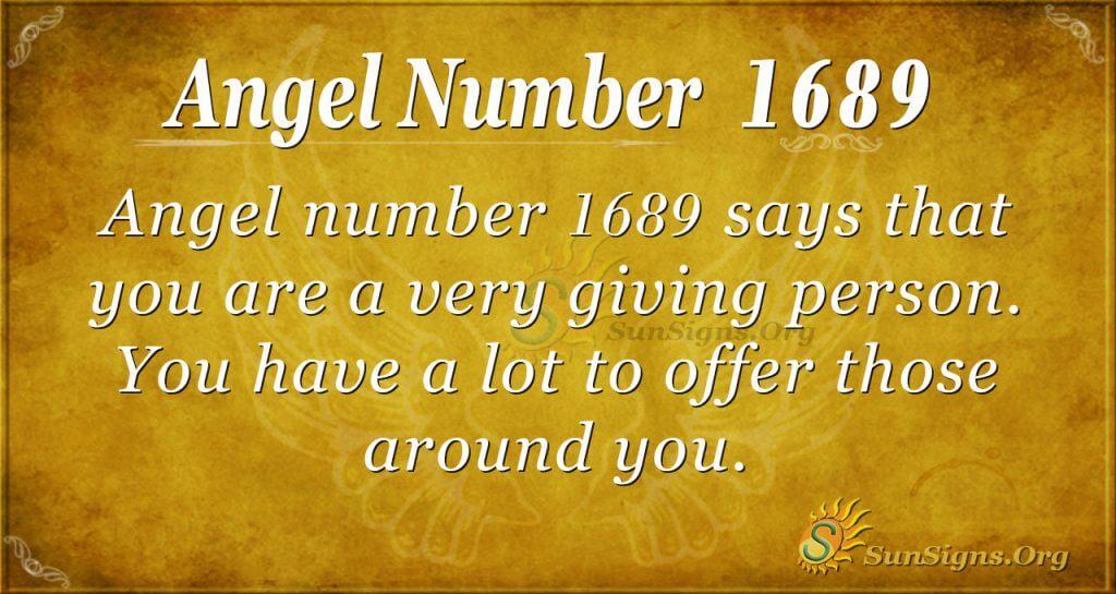 Angel Number 1689