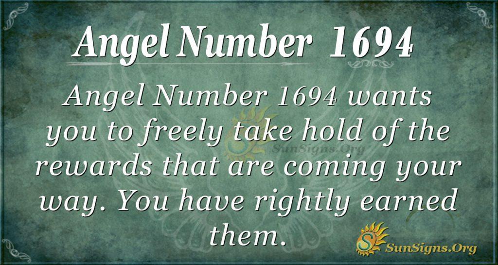 Angel Number 1694