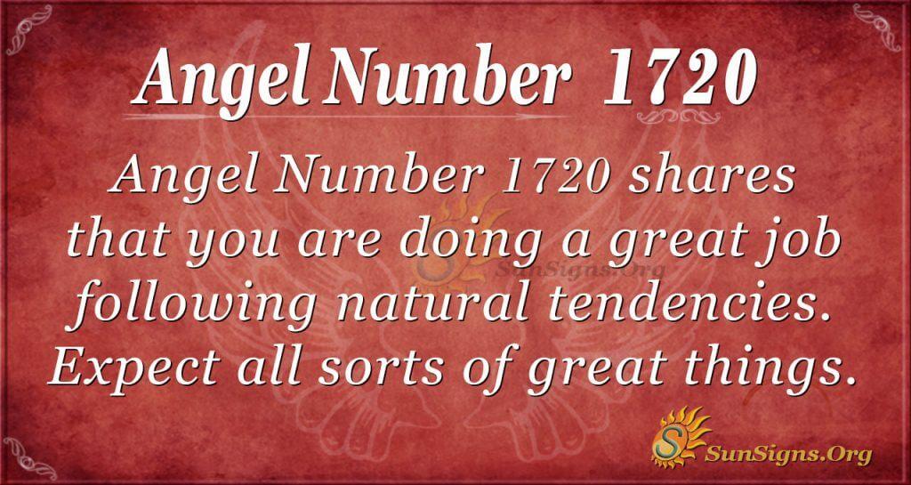 Angel Number !720