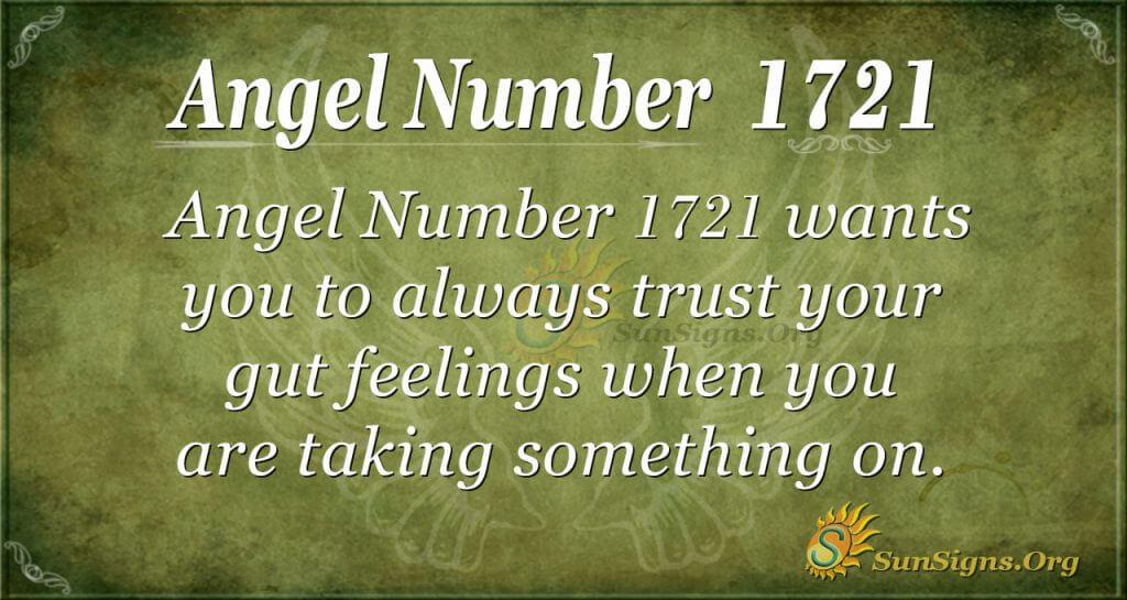 Angel Number 1721