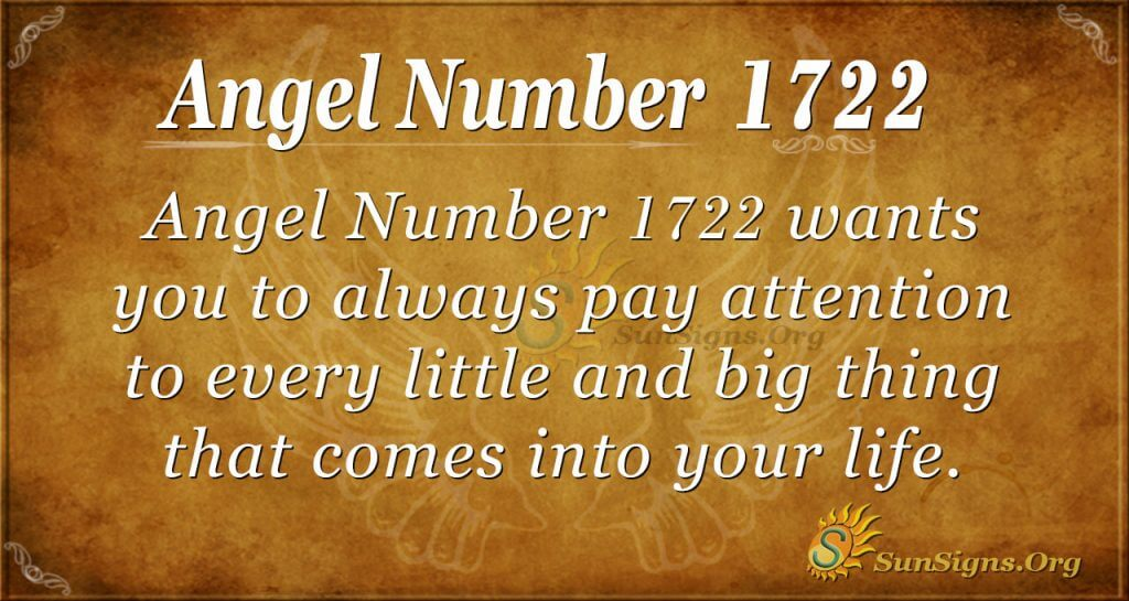 Angel Number 1722