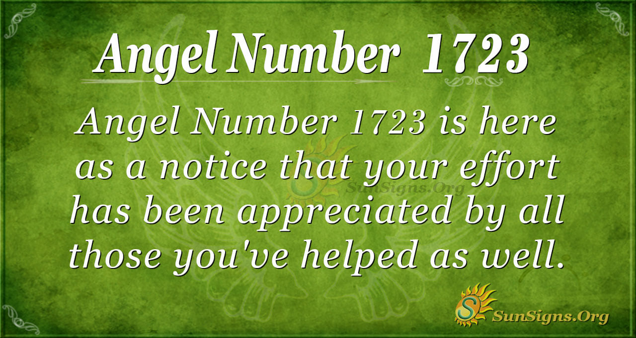 Angel Number 1723 Meaning: Helping Those Around You | SunSigns.Org