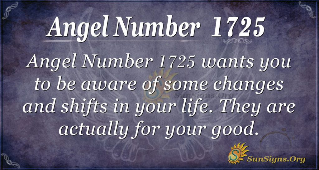 Angel Number 1725