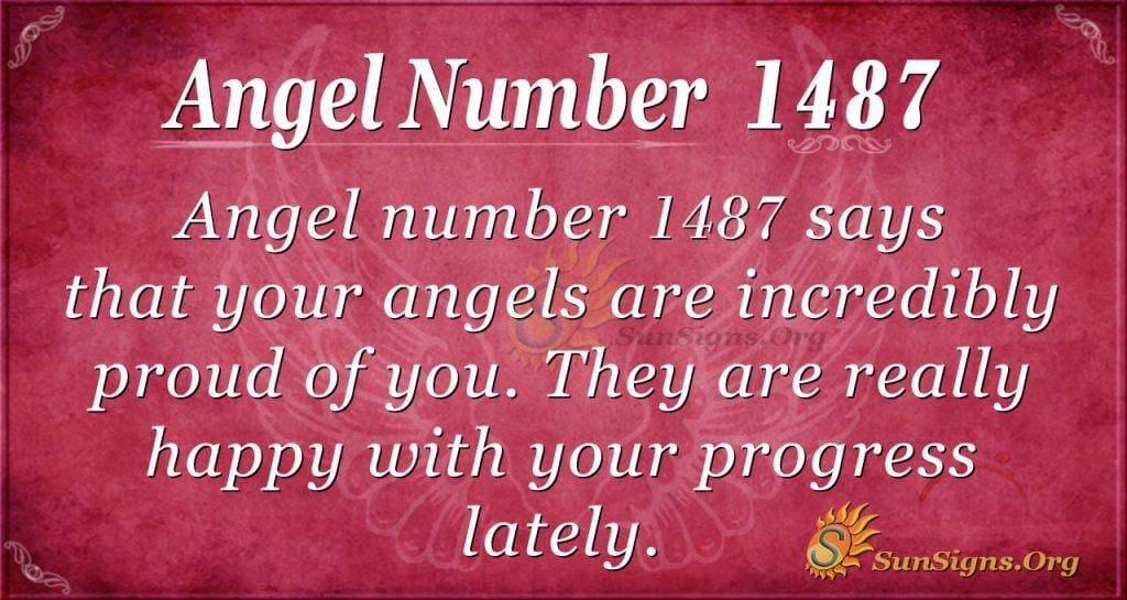 Angel Number 1487