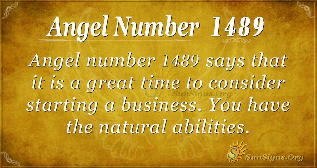 Angel Number 1489