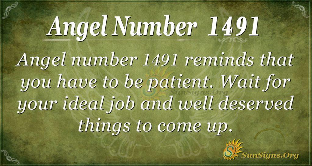 Angel number 1491