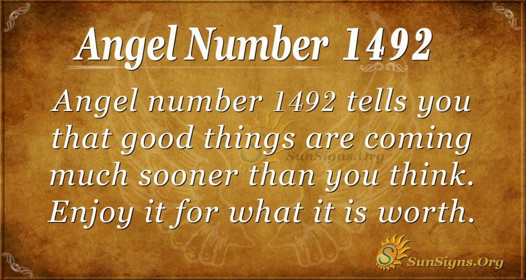 Angel Number 1492
