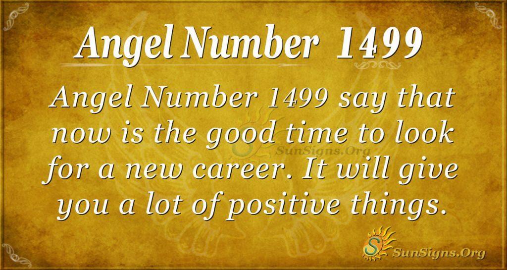 Angel Number 1499