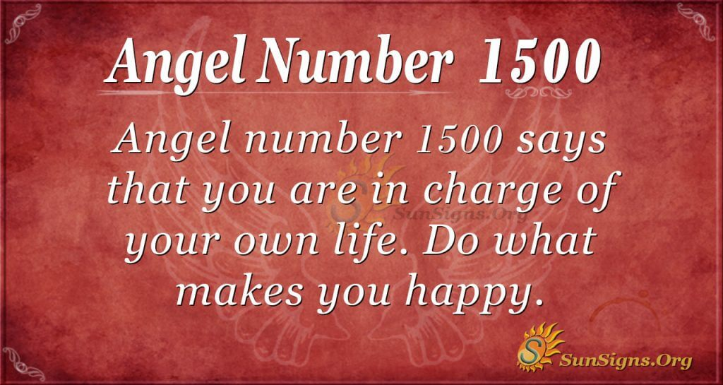 Angel Number 1500