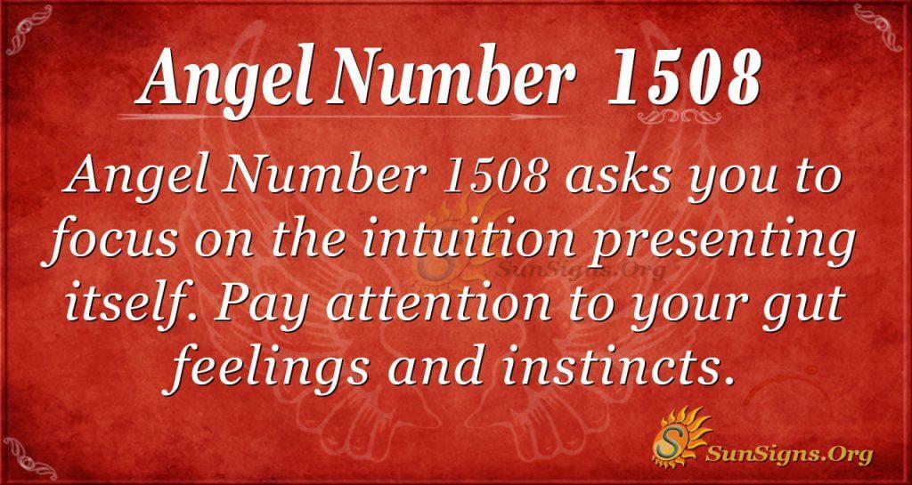 Angel number 1508