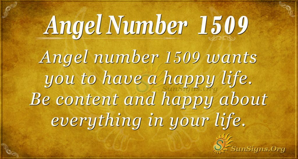 Angel Number 1509