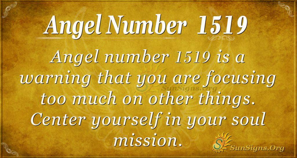 Angel Number 1519