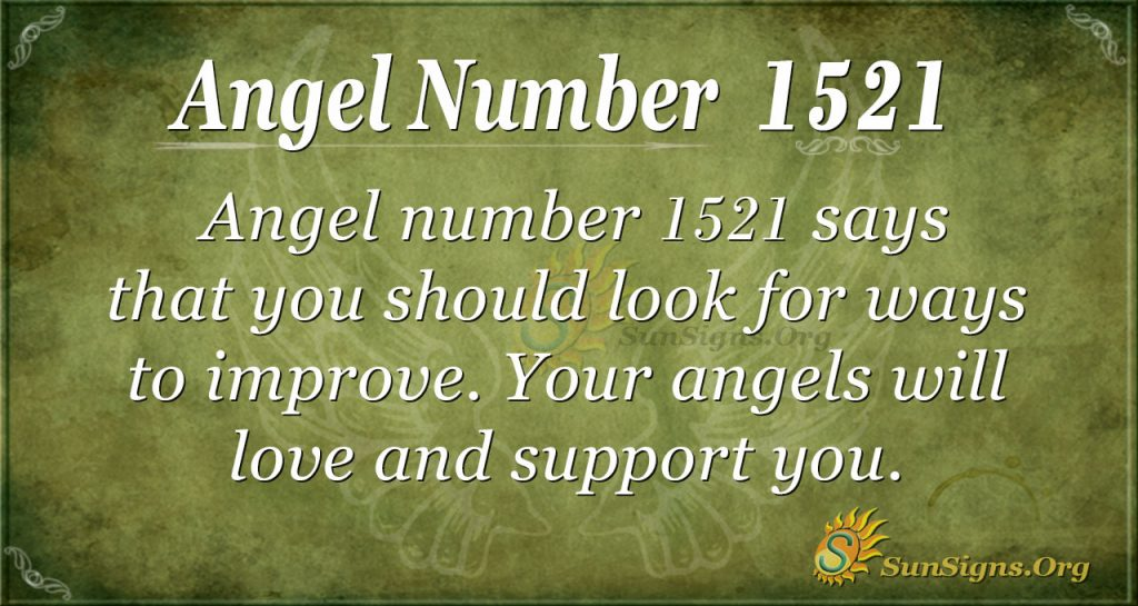 Angel Number 1521