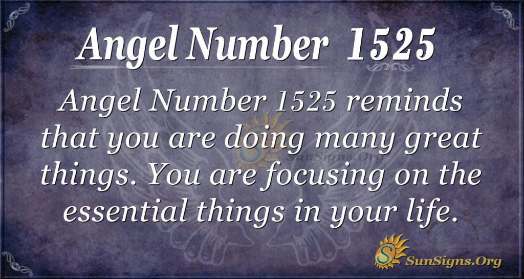 Angel Number 1525