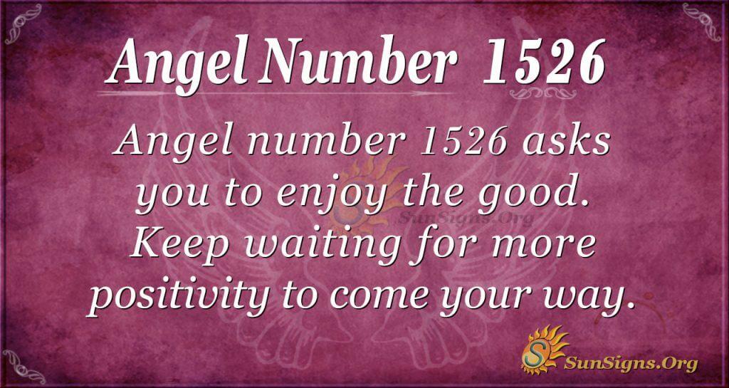 Angel Number 1526