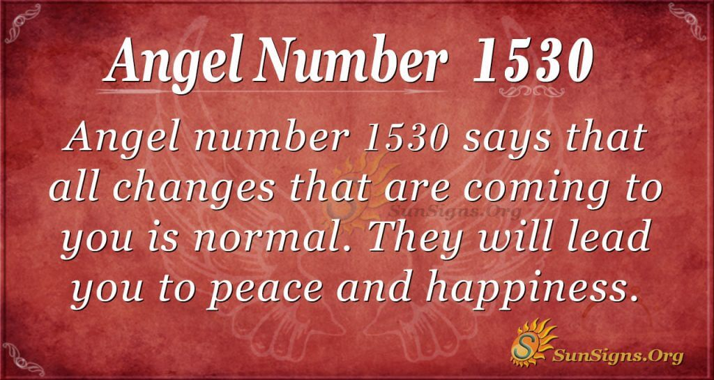 Angel Number 1530