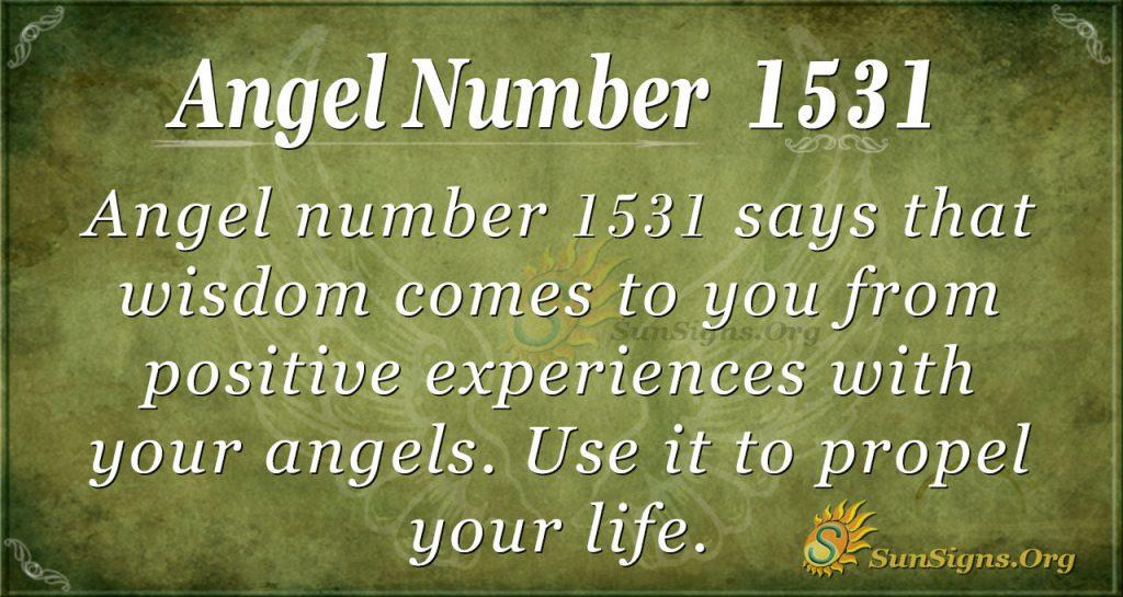 Angel number 1531