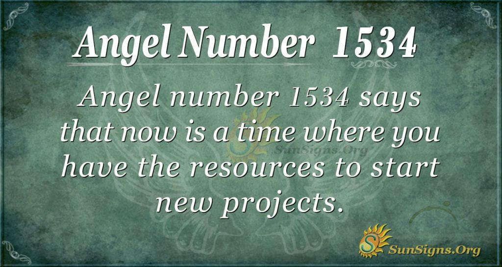 Angel number 1534