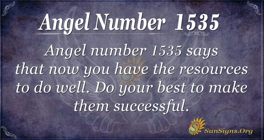 Angel number 1535