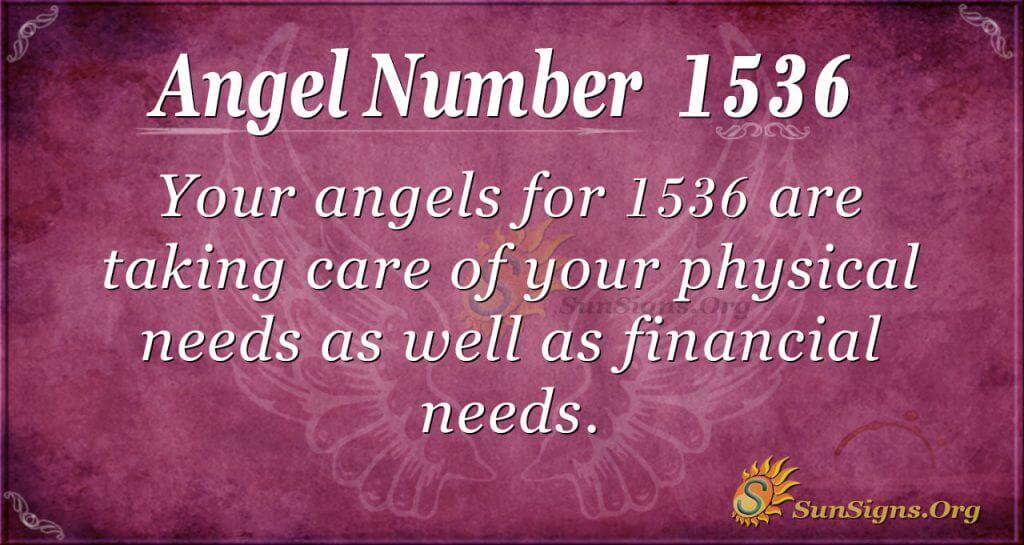 Angel Number 1536