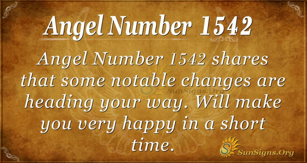 Angel Number 1542
