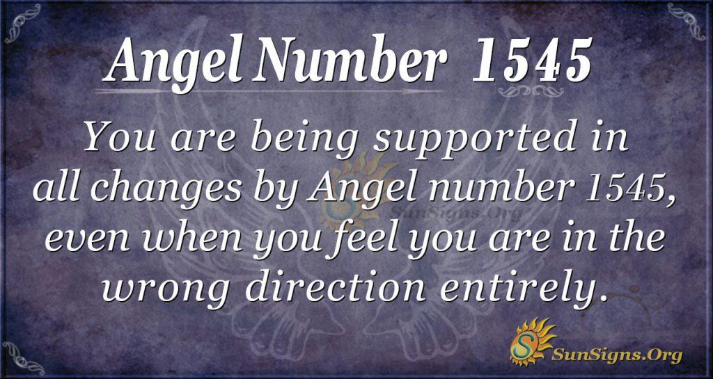 Angel Number 1545