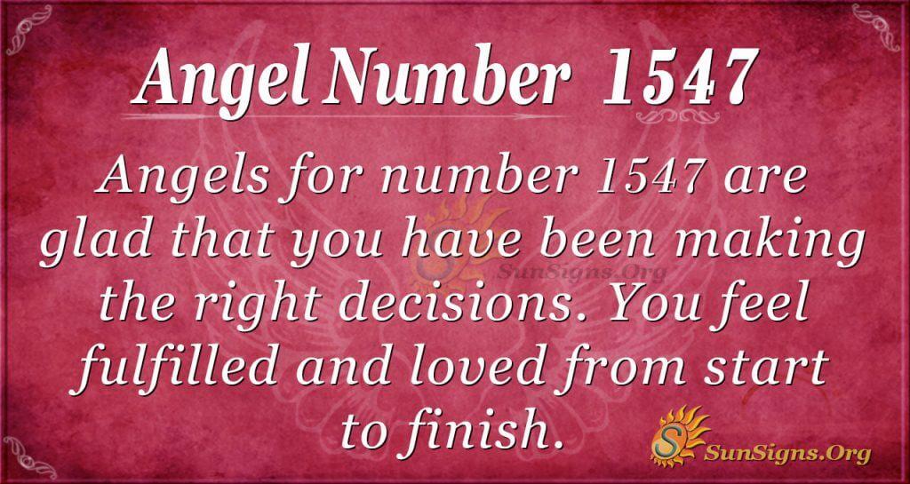 Angel Number 1547