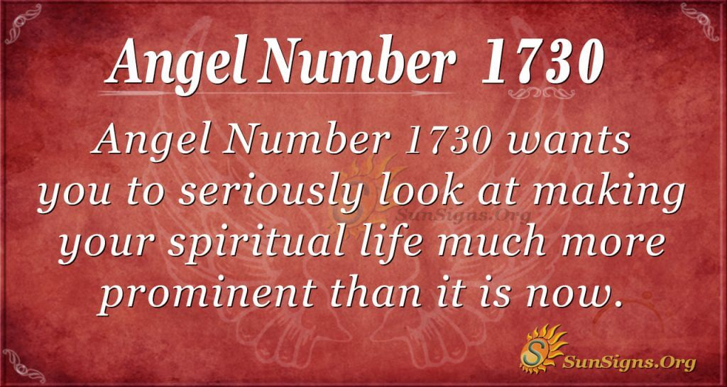 Angel Number 1730